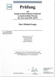 SAA-Zertifizierung Michael Lange